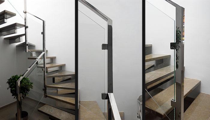 Art culos inoxidables - Pasamanos de cristal para escaleras ...